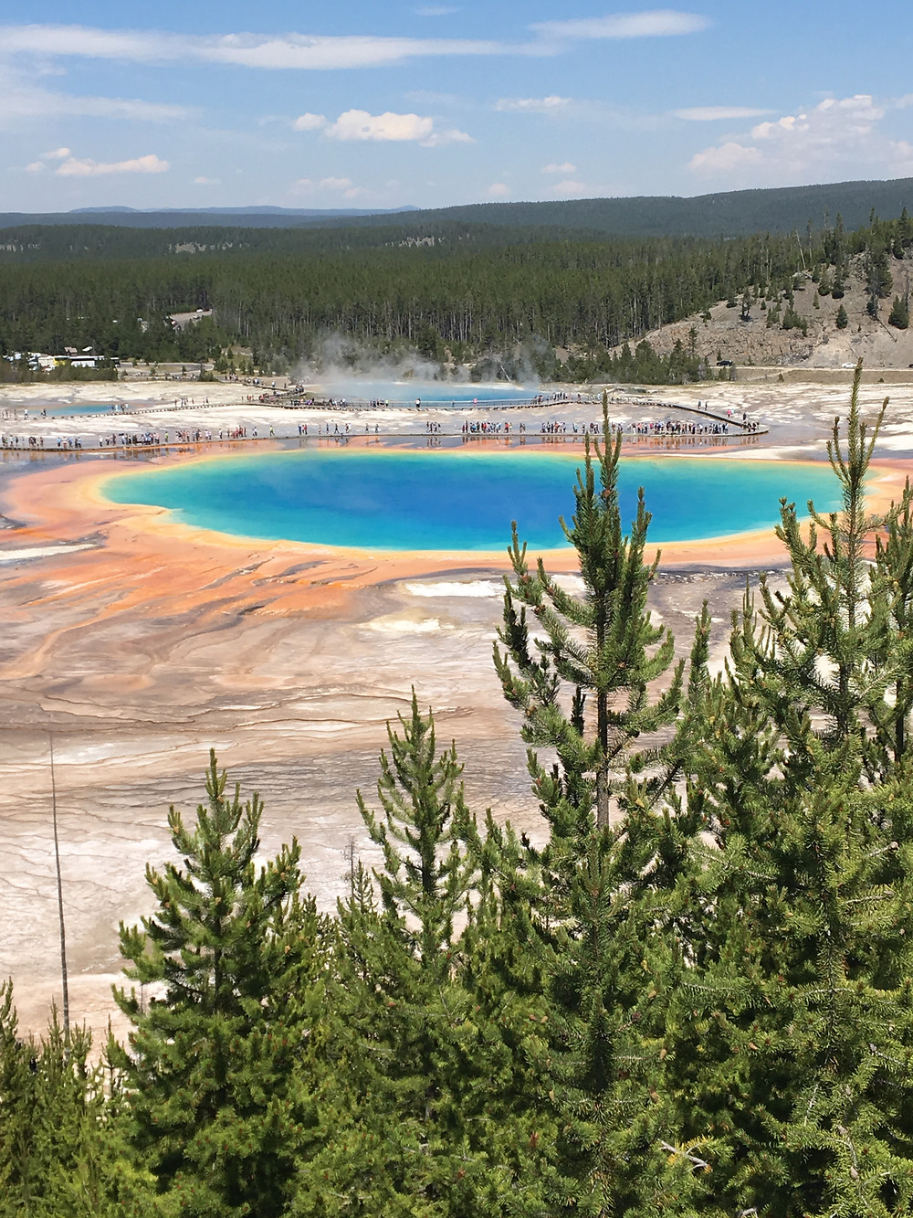 Grand Prismatic Spring for families