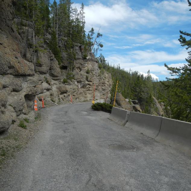 Virgina Cascade Drive Road in Yellowston