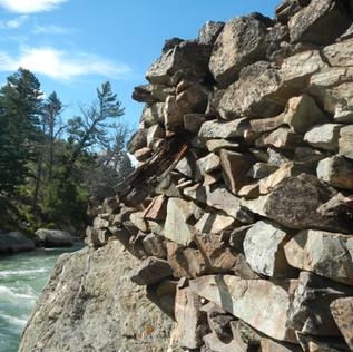 Yellowstone Bridge Ruins Up close .JPG