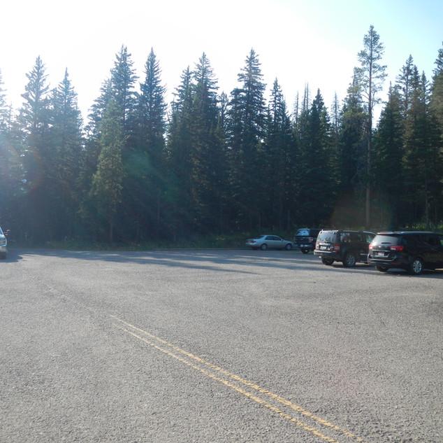 Warm Creek Trailhead Parking lot.JPG