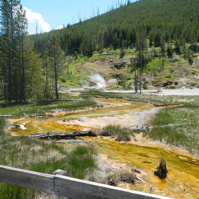 Artist Paintpot Yellowstone National Par