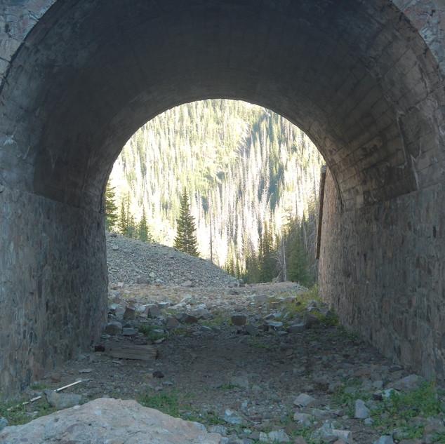 Inside Corkscrew Bridge Yellowstone.JPG
