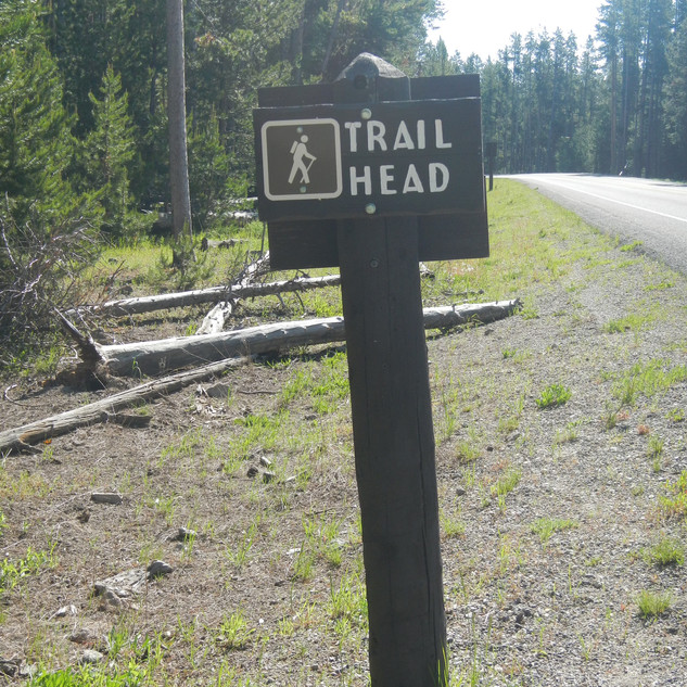 Purple Mountain Trailhead In Yellowstone National Park
