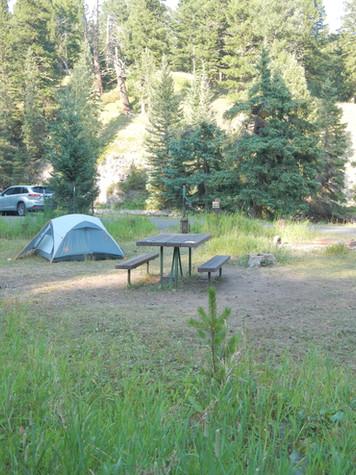 Campsite at Pebble Creek Campground.JPG