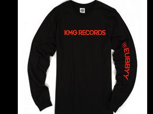 Long Sleeve KMG Tee| Black/Red