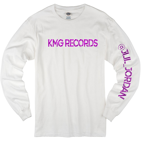 Long Sleeve KMG |White/Pink(Metallic)