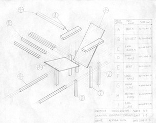 Exploded Isometric Chair