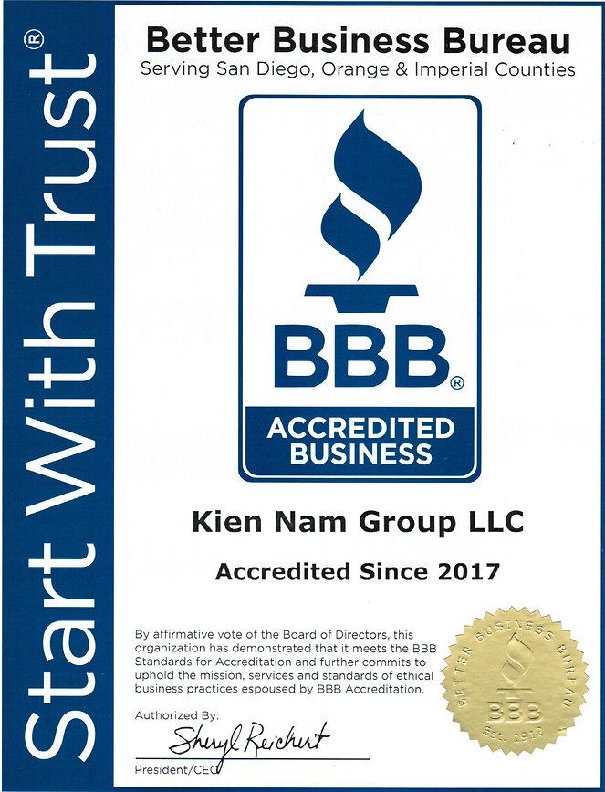 Kien Nam Group BBB Accredited