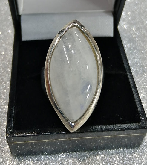 925 Silver Marquise Moonstone Ring