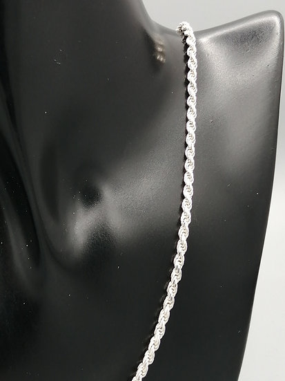 925 Silver Solid D/C Rope Chain