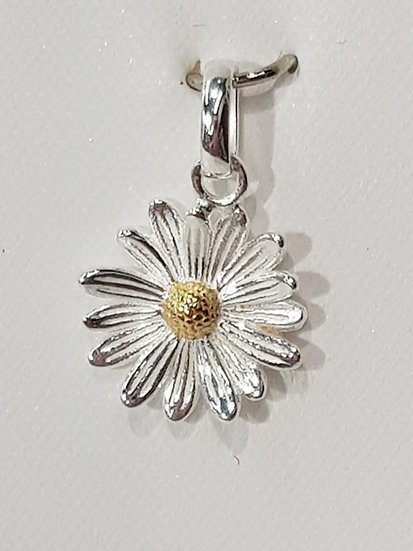 925 Sterling Silver Daisy Flower Charm