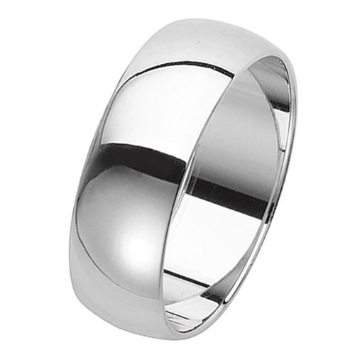 925 Silver 7mm Plain Band - D/Shape - Special Order*