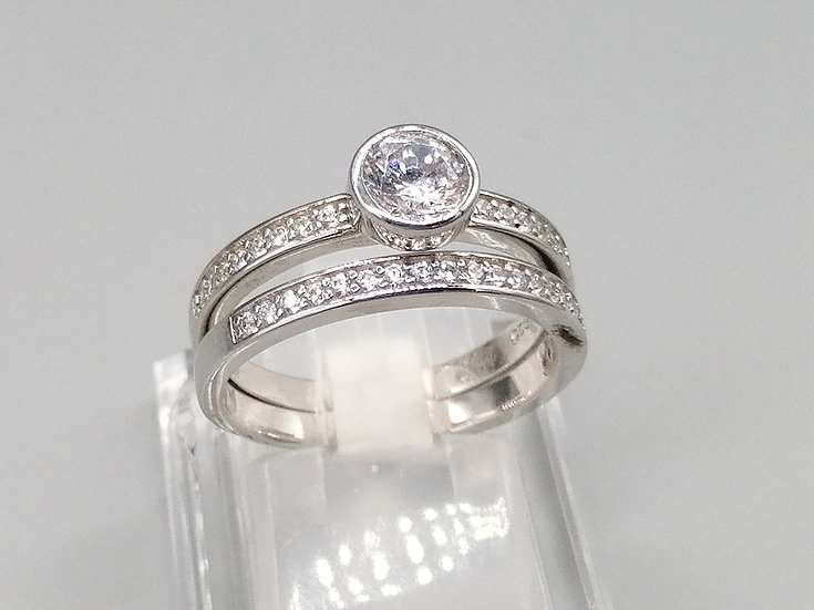 925 Silver White CZ ET & Solitaire Rings
