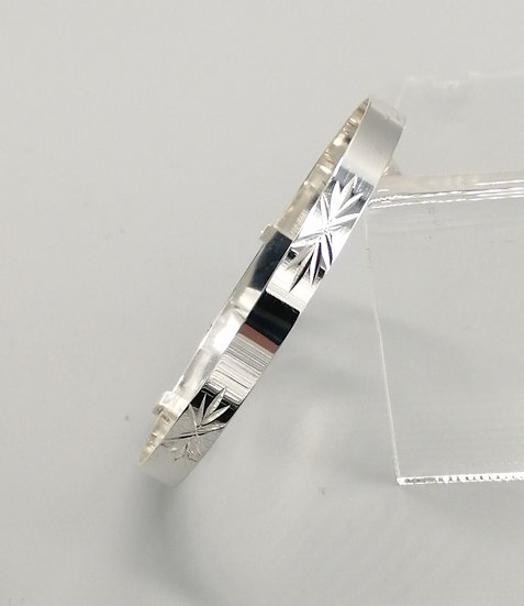 925 Silver D/C Star Childs Bangle