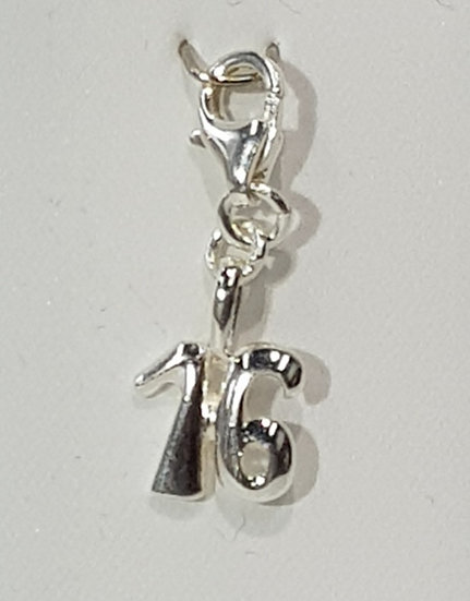 925 Sterling Silver Special 16th Birthday Charm