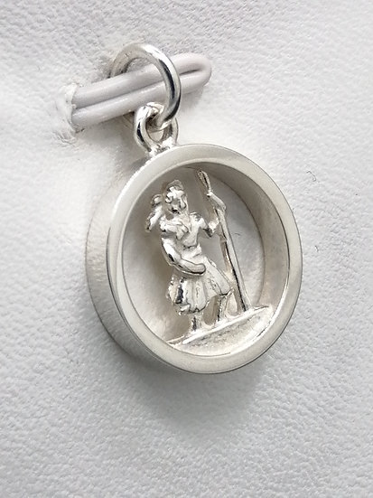 925 Silver Cut Out St Christopher