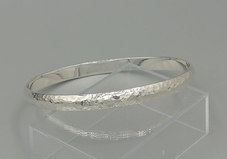 925 Silver Hammered Bangle