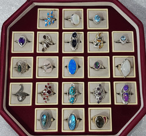 Shirleys 925 Silver Gemstone Rings For Sale