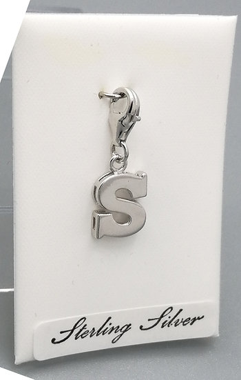 925 Silver Initial 'S'