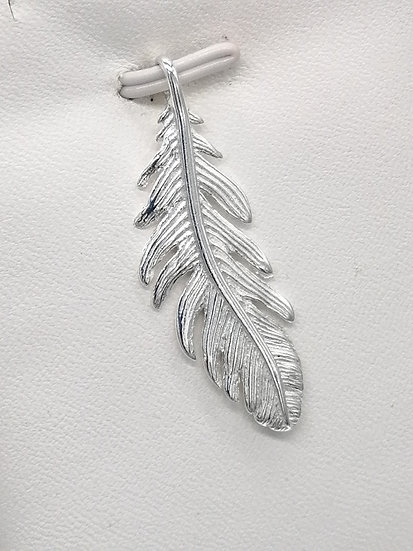 925 Silver Feather Pendant