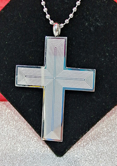 Lined Stainless Steel Cross
