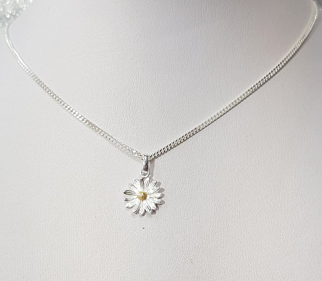 925 Sterling Silver Daisy & Chain