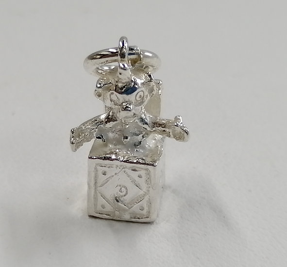 925 Sterling Silver Jack In A Box Charm