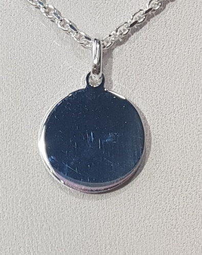 925 Sterling Silver Plain Round Disc