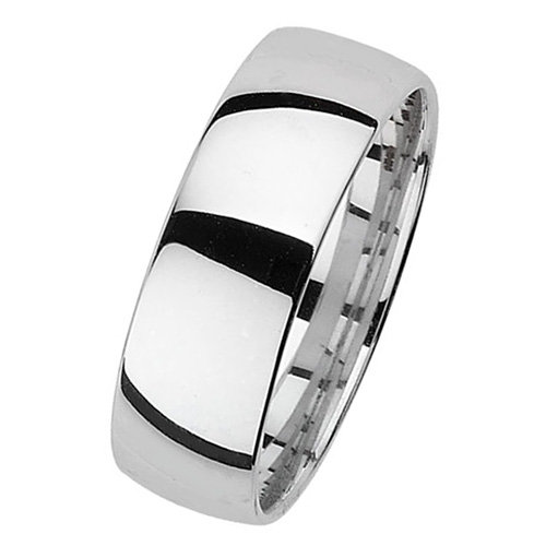 925 Silver 7mm Plain Band - Court - Special Order*
