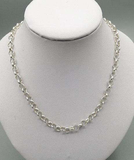 925 Silver Round Open Belcher Chain