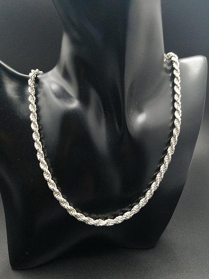 925 Silver Diamond Cut Rope Chain