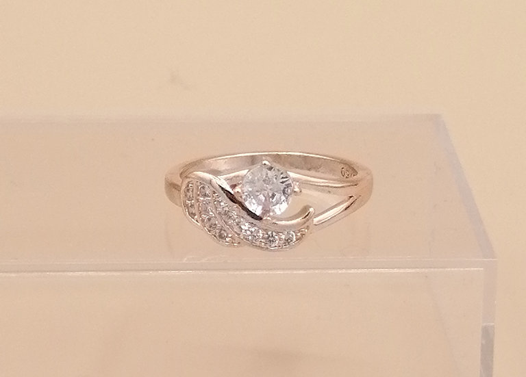Rose Gold CZ Angel Wing Ring