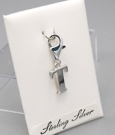 925 Silver Initial 'T'
