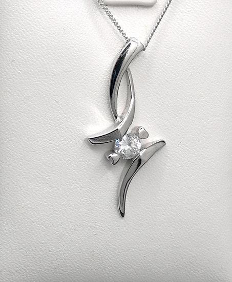 925 Silver CZ Anvil Pendant & Chain