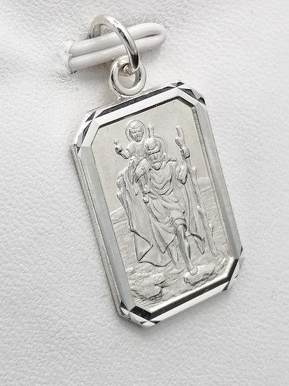 925 Silver D/C Frame St Christopher