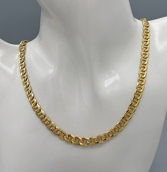 9ct Gold Patterned Curb Chain