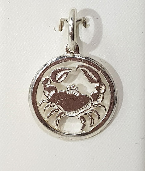 925 Sterling Silver Cancer Zodiac Sign - Crab