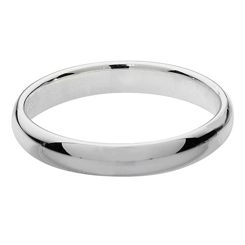 925 Silver 3mm Plain Band - D/Shape - Special Order*