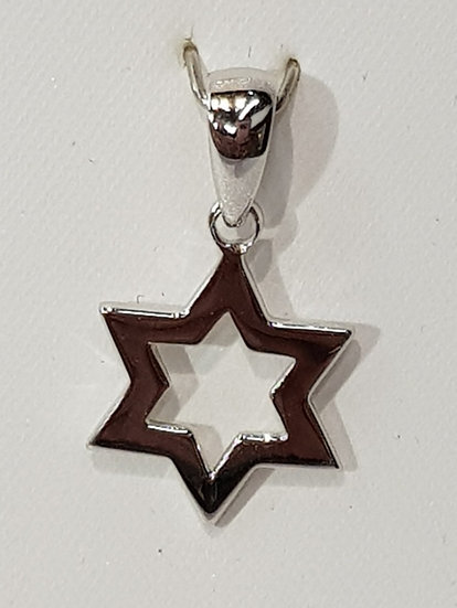 925 Sterling Silver Cutout Star