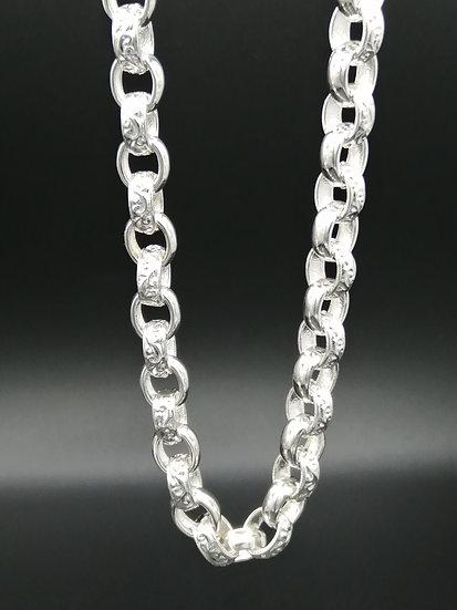 925 Silver Oval Plain & Patterned Belcher Chain