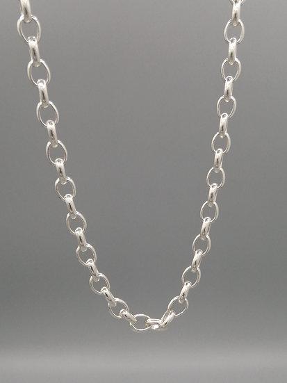 925 Silver Oval Belcher Chain