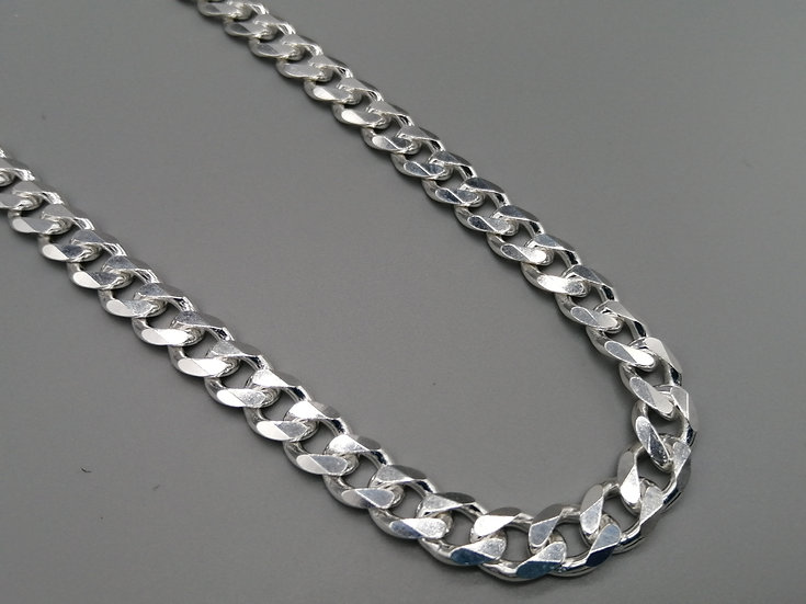 925 Silver Faceted Curb Chain