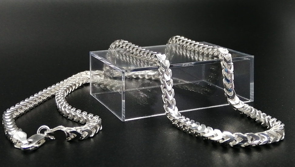 925 Silver Polished Franco Chain