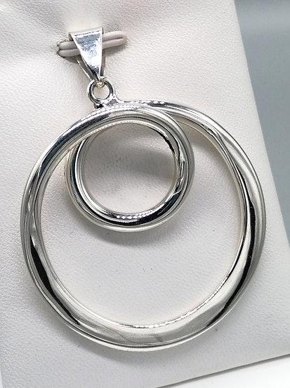 925 Silver Spiral Circles Pendant