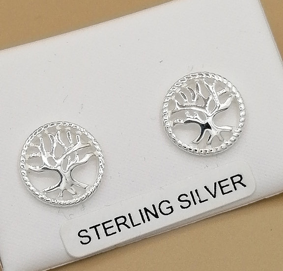 925 Silver Tree of Life Earrings