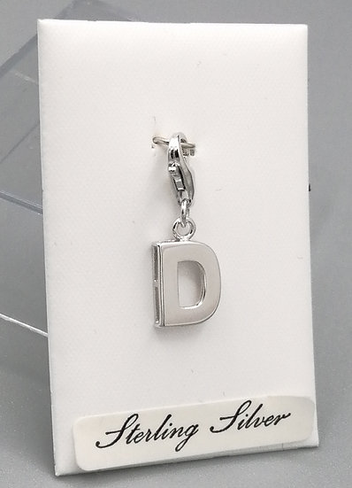 925 Silver Initial 'D'