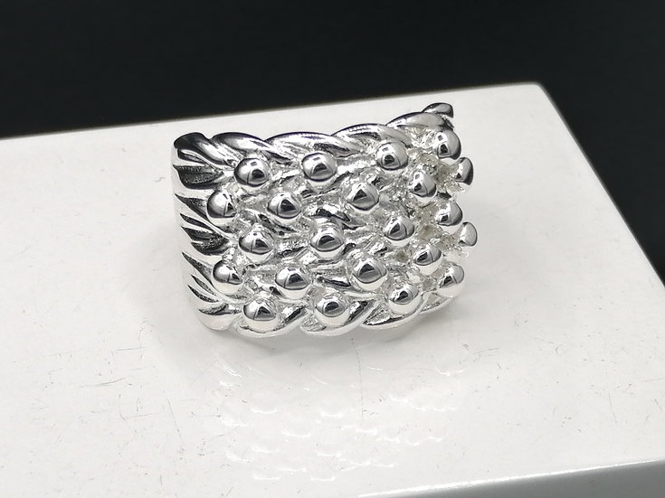 925 Silver 5 Row Keeper Ring