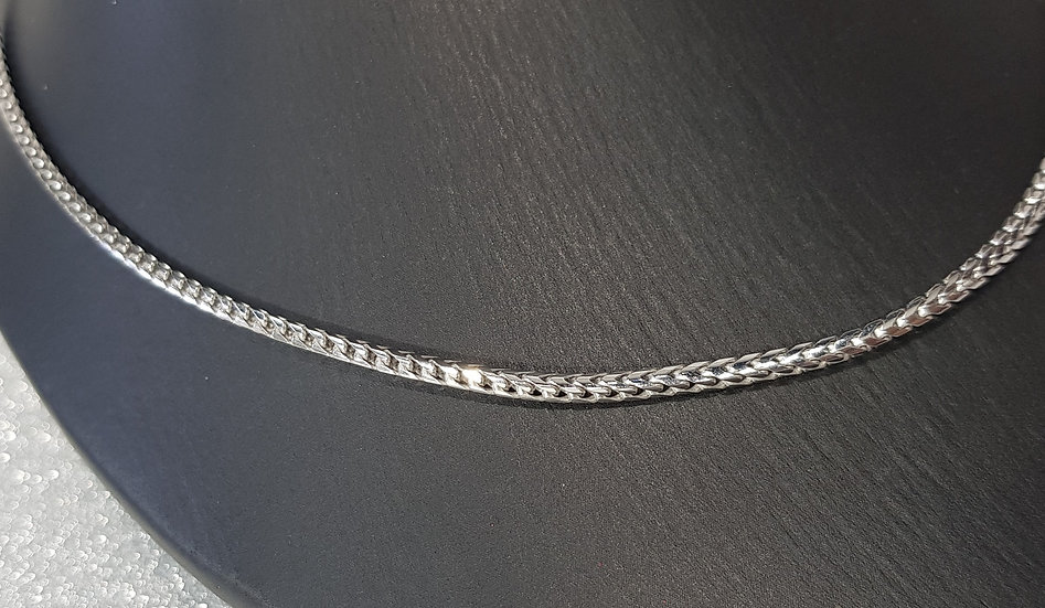 925 Sterling Silver Long Franco Chain