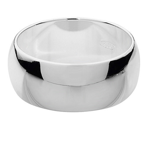 925 Silver 8mm Plain Band - D/Shape - Special Order*