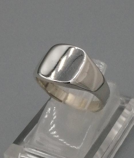 925 Silver Plain Cushion Signet Ring
